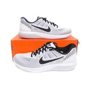 Nike Mens Lunarglide 8 Size 10 White 843725-101